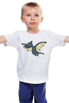 """Детская футболка """"Птерозаврик"""" - мультфильм, рисунок, детский, динозавры, стильный"""