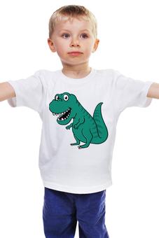 """Детская футболка """"Тиранозаврик"""" - рисунок, детский, динозавры, стильный, тиранозавр"""