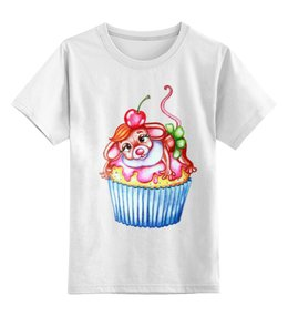 """Детская футболка классическая унисекс """"Год Мыши"""" - девушке, милая, мышка, крыса, год крысы"""