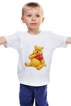 """Детская футболка классическая унисекс """"Медвежонок Винни"""" - винни пух, tshirt, winnie pooh, медвежонок винни"""