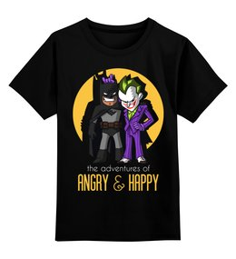 """Детская футболка классическая унисекс """"Бэтмен и Джокер"""" - бэтмен, джокер, joker, batman"""