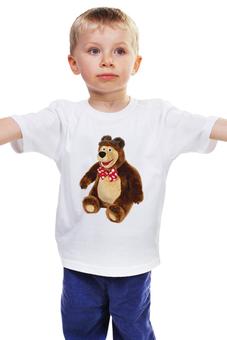 """Детская футболка классическая унисекс """"МЕДВЕДЬ.МЯГКАЯ ИГРУШКА. ЛЮБИМЫЙ МУЛЬТ."""" - медведь, мульт, мягкая игрушка"""