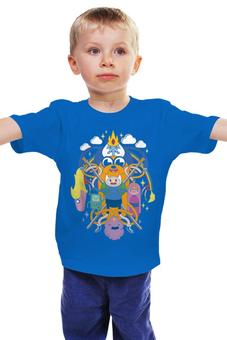 """Детская футболка """"Время приключений"""" - adventure time, время приключений, джейк, финн, финн и джейк"""