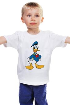"""Детская футболка классическая унисекс """"Дональд Дак 2"""" - дисней, мультфильмы, дональд дак"""