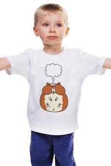 """Детская футболка """"Хомядум"""" - мысли, думает, wax, хомячёк, толстячёк"""