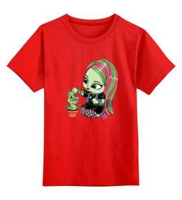 """Детская футболка классическая унисекс """"Монстр хай"""" - ведьма, фэнтези, monster high, для девочки, школа монстров"""