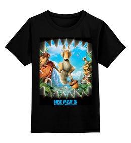 """Детская футболка классическая унисекс """"ЛЕДНИКОВЫЙ ПЕРИОД. ICE AGE"""" - надпись, стиль, персонажи, мультсериал, герои мультфильма"""