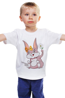 """Детская футболка """"Зайка"""" - заяц, зайка, зайчик, гороскоп, год кролика"""
