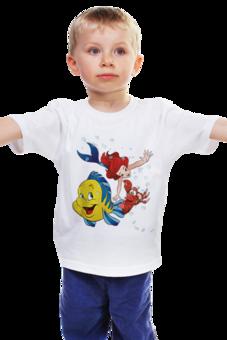 """Детская футболка """"Русалочка"""" - животные, мультик, герой, принцесса, детское"""