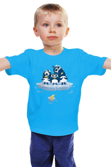 """Детская футболка """"Миньоны Пингвины"""" - пингвины, миньоны, гадкий я, банана"""