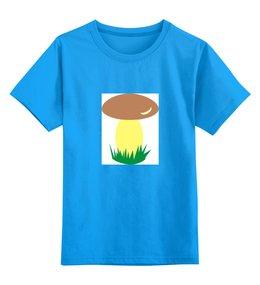 """Детская футболка классическая унисекс """"грибок"""" - мультики, природа, грибник, гибок"""