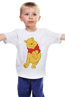 """Детская футболка классическая унисекс """"Винни-Пух"""" - винни пух, мульт персонаж, winnie pooh"""