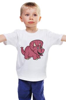 """Детская футболка """"Стегозаврик"""" - мультфильм, рисунок, детский, динозавры, стильный"""