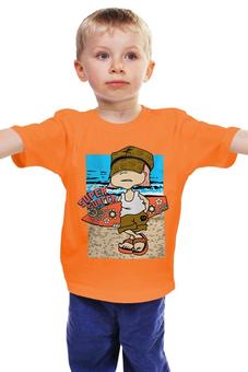 "Детская футболка ""Super surfing "" - море, сёрфингист"