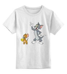 """Детская футболка классическая унисекс """"Том и Джери"""" - tom and jerry, cartoon, мультфильм, old school"""