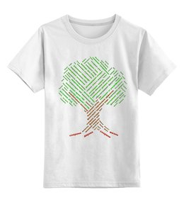 """Детская футболка классическая унисекс """"Важность деревьев для жизни на земле"""" - любовь, деревья, россия, природа, слова"""