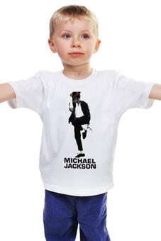 """Детская футболка классическая унисекс """"Michael Jackson"""" - майкл джексон, michael jackson, king of pop"""