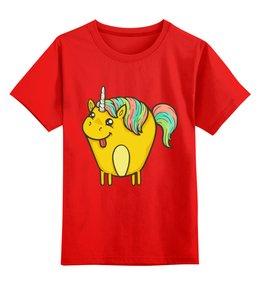 """Детская футболка классическая унисекс """"Единорог"""" - лошадка, пони, лошадь, единорог, мифы"""