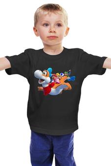 """Детская футболка """"Супер Марио """" - дракон, друзья марио"""