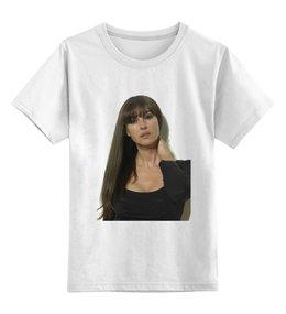 """Детская футболка классическая унисекс """"Моника Беллуччи """" - знаменитости, поп, фильмы, моника беллуччи, актрисы"""