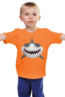 """Детская футболка классическая унисекс """"Акула """" - большая рыбка"""