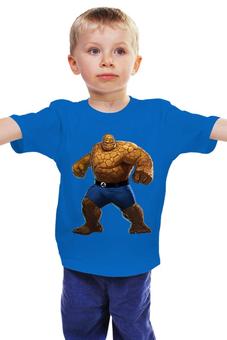 """Детская футболка классическая унисекс """"Фантастическая 4 Существо (Fantastic 4)"""" - существо, marvel, fantastic 4, the thing, фантастическая 4"""