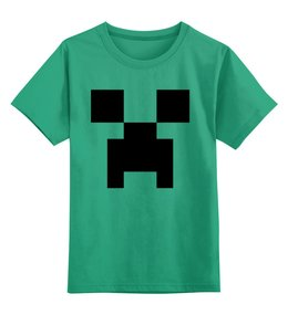 "Детская футболка классическая унисекс ""Крипер (Creeper)"" - майнкрафт, крипер, creep, mob, моб"