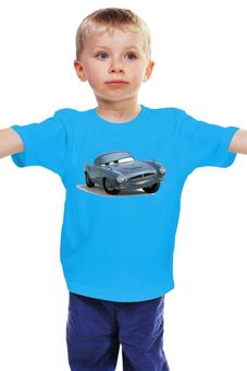 """Детская футболка классическая унисекс """"Фин Макмисл Тачки"""" - тачки, фин макмисл, тачки 2"""