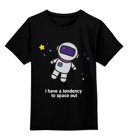 """Детская футболка классическая унисекс """"Космонавт"""" - космос, звёзды, космонавт"""