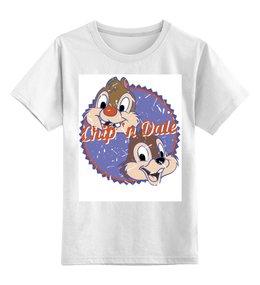 """Детская футболка классическая унисекс """"Чип и Дейл"""" - мультики, животные, чип и дейл"""