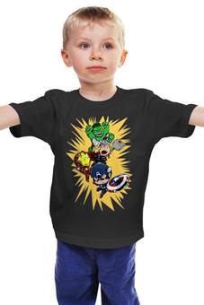 "Детская футболка ""Герои Марвела"" - капитан америка, тор, халк"