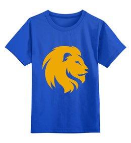 """Детская футболка классическая унисекс """"Животные"""" - арт, животные, лев, дизайн, россия"""