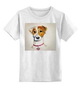 "Детская футболка классическая унисекс ""Jack russell"" - dog, best friend, jack russell terrier, джек-рассел-терьер, терьер"