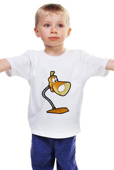 """Детская футболка """"Лампа"""" - лампа, отважный маленький тостер"""