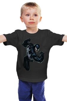 """Детская футболка классическая унисекс """"Venom / Веном"""" - venom, marvel, spiderman, человек-паук, веном"""