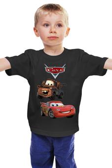"""Детская футболка классическая унисекс """"Тачки"""" - машины, мэтр, молния маккуин"""