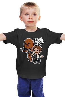 """Детская футболка классическая унисекс """"Звездные Войны"""" - star wars, звездные войны, хан соло, чубака"""