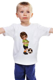"""Детская футболка """"Футболист"""" - спорт, для мальчика, футбольный мяч"""