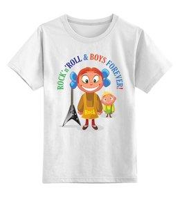 """Детская футболка классическая унисекс """"Рок-н-ролл для девочек"""" - гитара, рок, футболка для девочек, rock-n-roll, детская футболка"""
