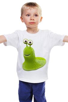 """Детская футболка классическая унисекс """"Монстрик"""" - монстр, улыбка, улитка, смешной, монстрик"""