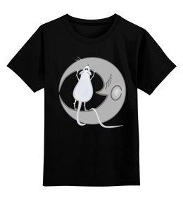 """Детская футболка классическая унисекс """"Китайский гороскоп - год крысы"""" - небо, луна, китайский гороскоп, год крысы"""