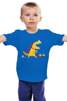 """Детская футболка классическая унисекс """"Динозавр"""" - динозавр, дино"""