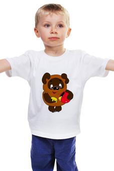 """Детская футболка классическая унисекс """"Винни-Пух"""" - винни пух, winnie pooh"""