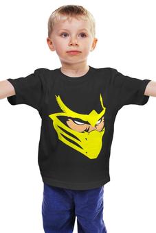 """Детская футболка """"Скорпион (Мортал Комбат)"""" - комиксы, смертельная битва, мк"""