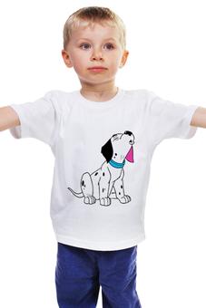 """Детская футболка классическая унисекс """"Далматинец"""" - рисунок, щенок, собака, пёс, далматинец"""