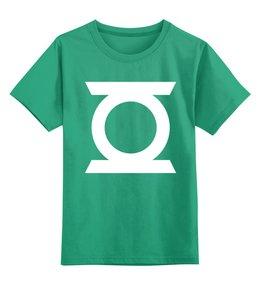 """Детская футболка классическая унисекс """"Зеленый фонарь"""" - comics, комикс, green, кино, фильм, зеленый, dc, зеленый фонарь, фонарь, green lantern"""
