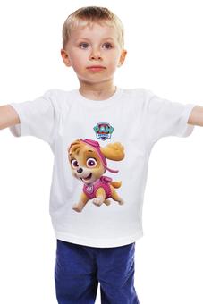 """Детская футболка классическая унисекс """"Щенячий патруль Скай"""" - щенячий патруль скай, paw patrol snowboard"""