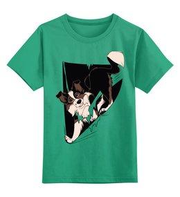"""Детская футболка классическая унисекс """"Собака"""" - щенок, собака, пёс"""