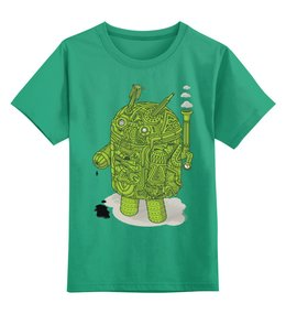 "Детская футболка классическая унисекс ""Android"" - android, андроид"