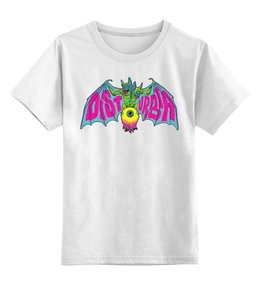 """Детская футболка классическая унисекс """"Disturbia"""" - арт, ужасы, летучая мышь, disturbia, дистурбия"""